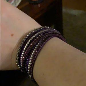 Jewelry - Women's faux leather wrap bracelet